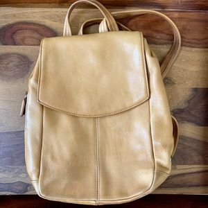 Tignanello Brown/Tan Leather Backpack Bag 💛